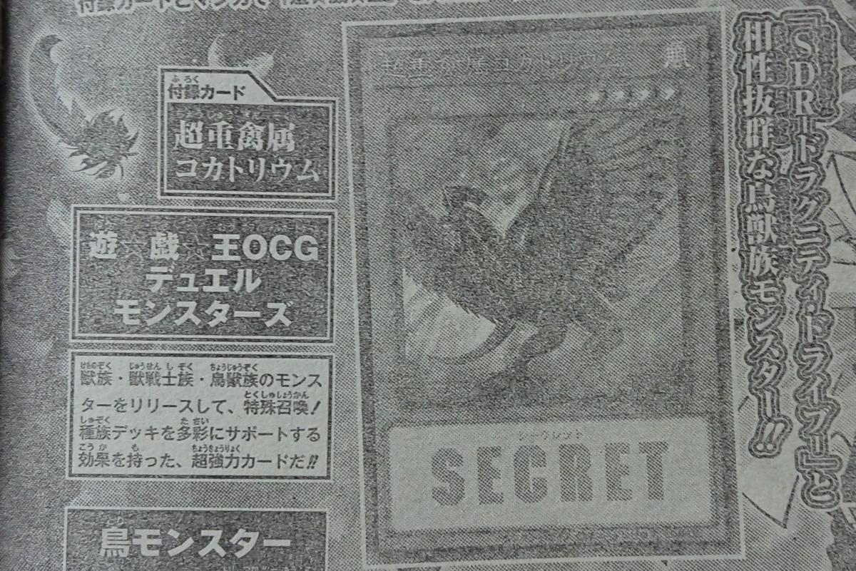 【遊戯王フラゲ】《超重禽属コカトリウム》の効果イメージが判明!?リリースして特殊召喚できる効果持ちなど!