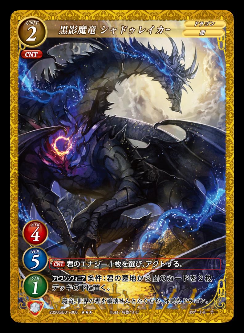【黒影魔竜 シャドウレイカー】