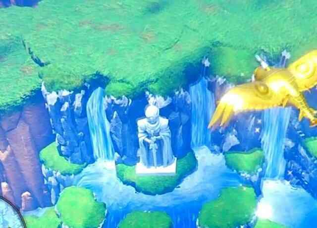 上空から見たユグノアの勇者像