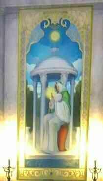 聖母と伝説の勇者ローシュの誕生の絵