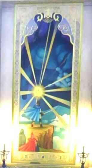 邪神に挑む伝説の勇者ローシュと仲間の絵