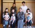2014お正月家族の記念写真
