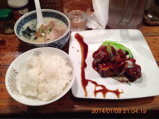 麺飯食堂なかじま酢豚