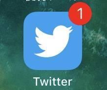 バッジ通知の消えないTwitterのアイコン