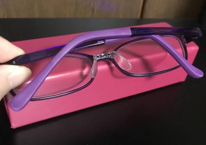 ラバー部分を交換してもらった眼鏡