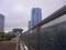コミケ74・三日目朝5:55頃 国展駅脇歩道橋よりビッグサイトを望む