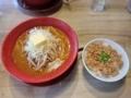 『みそ吟』鶏そぼろ丼、味噌ラーメンセット(バタートッピング)
