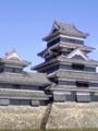 松本城にきました。快晴です