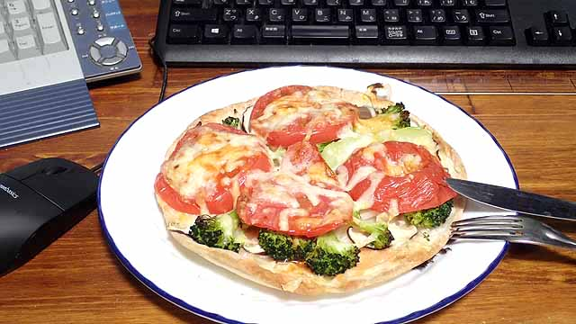 ブランチの時のピザ