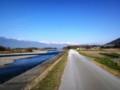 田沢地区;犀川堤防に沿って‥ウオーク