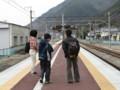 スタート駅・田沢駅‥まだ、雨降ってませんが