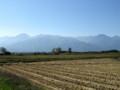 北アルプス‥常念岳と有明山