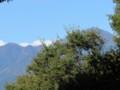 庭先から‥ケヤキ成長で、常念岳が見えにくく
