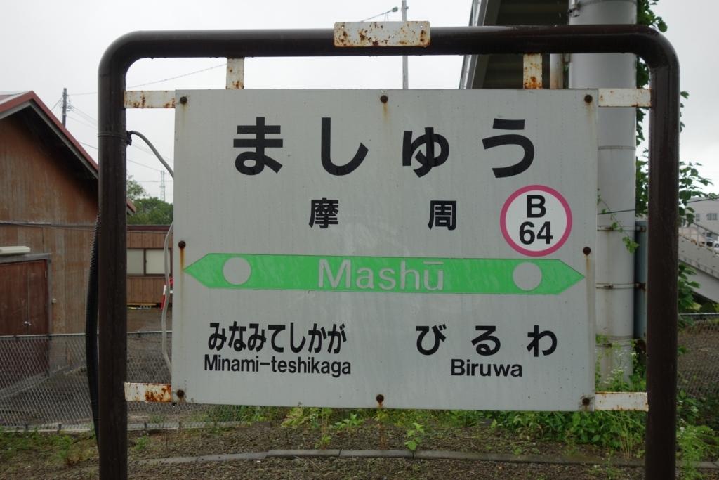 摩周駅の標識