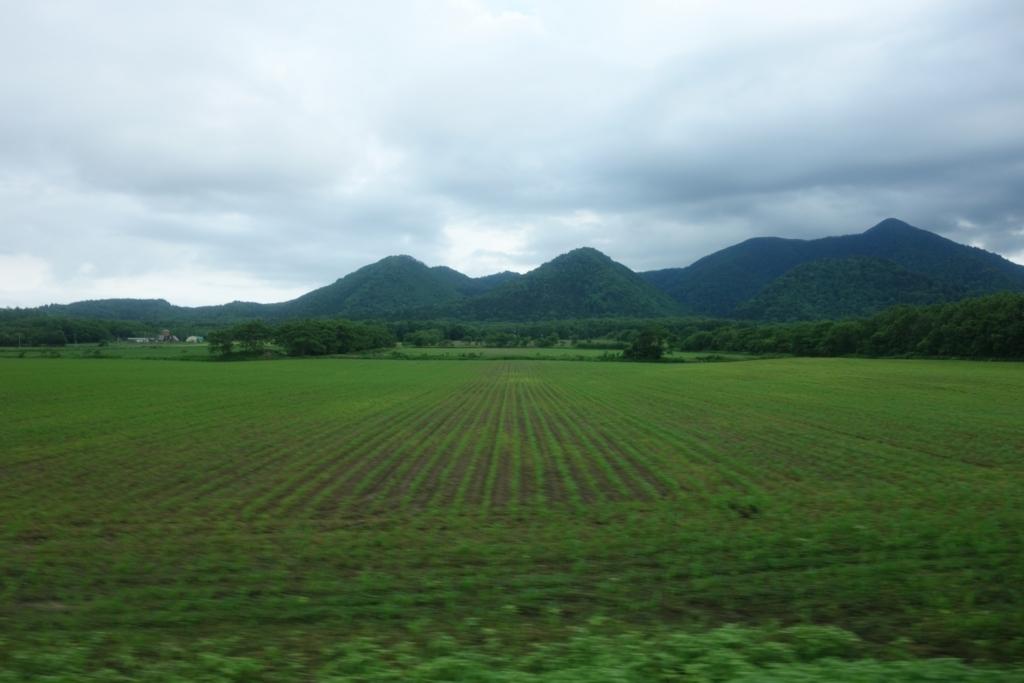 屈斜路線の車窓から見える風景