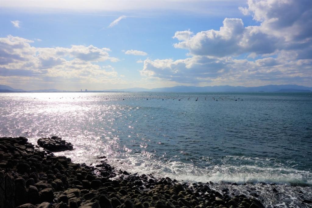 相島の海辺の道