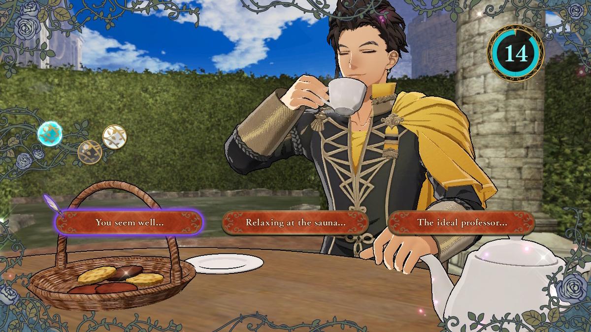 クロードをお茶に誘いました