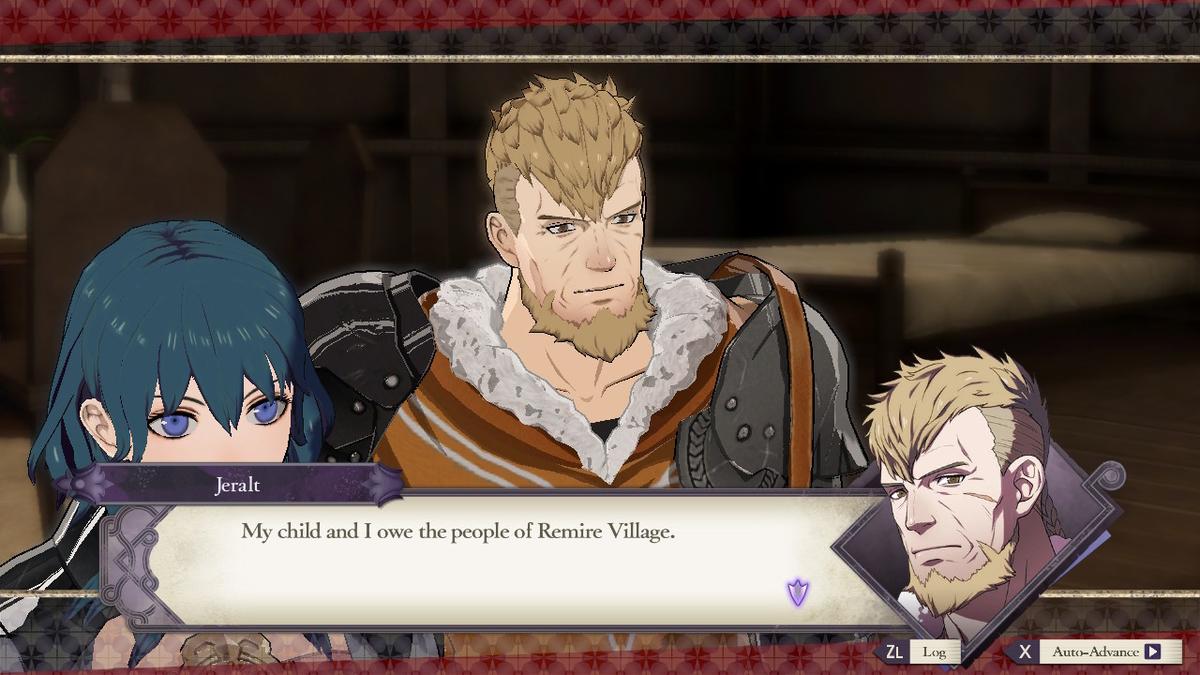 ジェラルトと主人公は何度もその村を訪れている