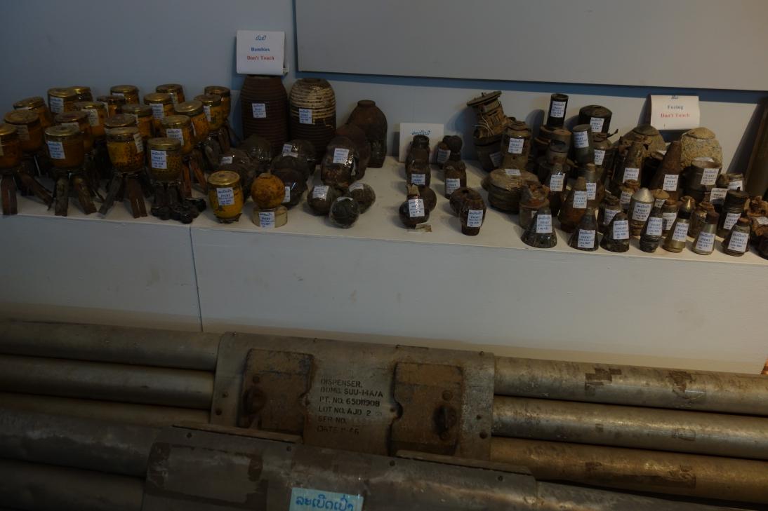 ラオス不発弾センターの展示2