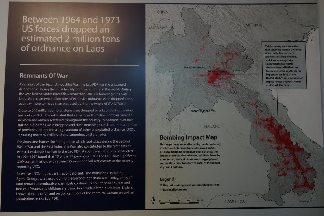ラオス不発弾センターの展示3