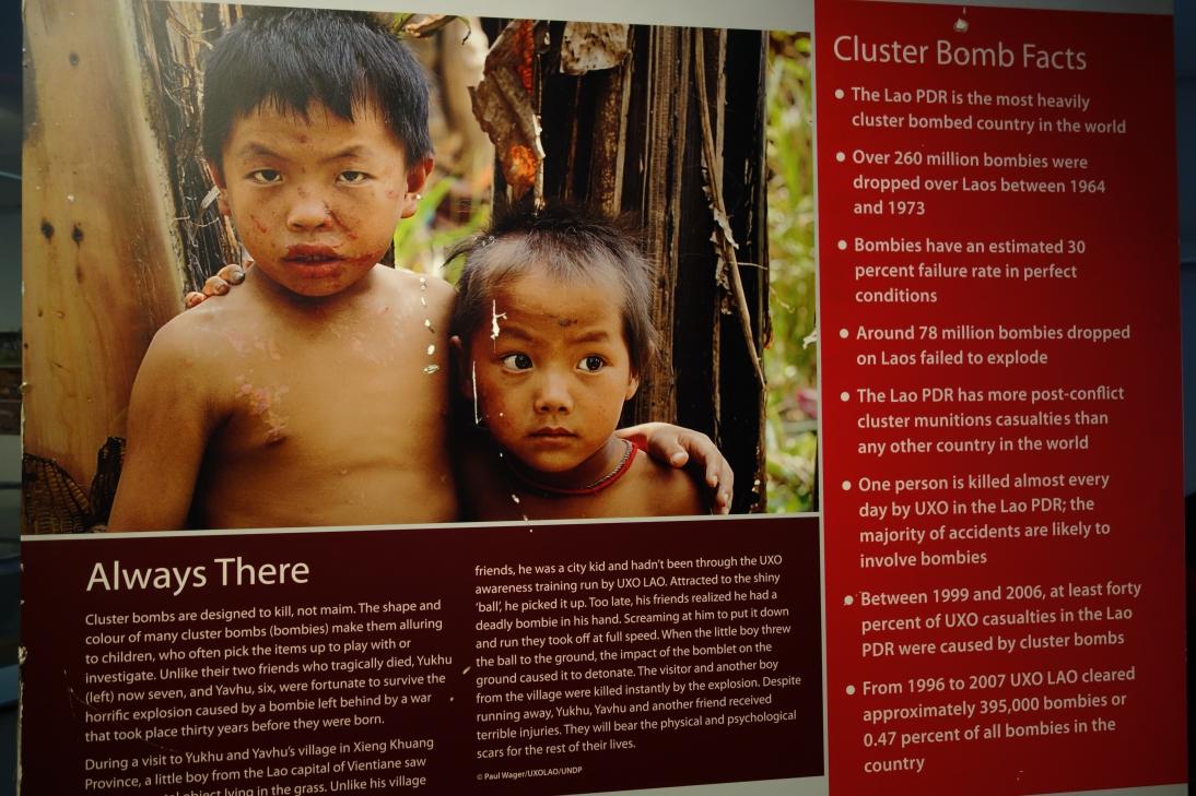 ラオス不発弾センターの展示4