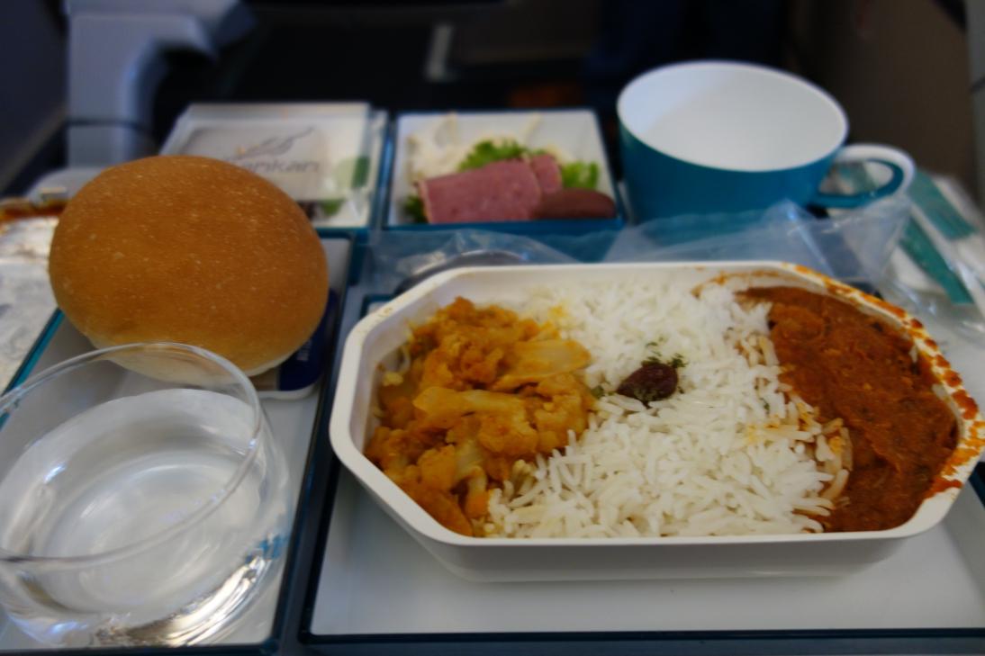 スリランカ航空の機内食1
