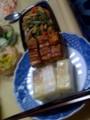 冷凍の柿の葉寿司食べるー