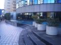 新横浜プリンスの下の噴水