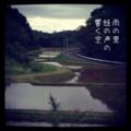 [iphoneography][photoikku][instagram][jhaiku][haiku][poem][俳句]雨の里 蛙の声の 響く空 [山乃鯨]