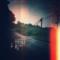 雨溢れ 雲底沈む 寂びた街 水面(みのも)さざめき 火照る碌青(ろくせう)