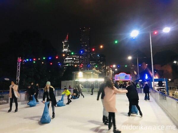 メルボルンイベント メルボルン冬 メルボルンウィンターヴィレッジ メルボルンアイススケート