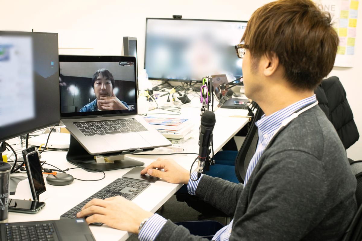 仙台オフィスと東京オフィスを繋いでいる様子