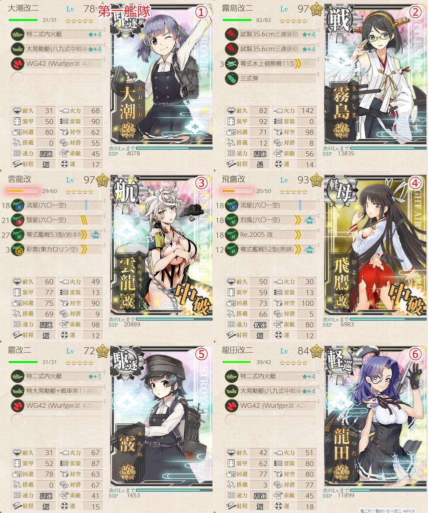 18初秋イベE2甲 戦力撃破作戦 艦隊編成