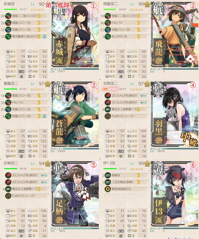 18初秋イベE3甲 護衛独還姫-壊 撃破編成 第一艦隊