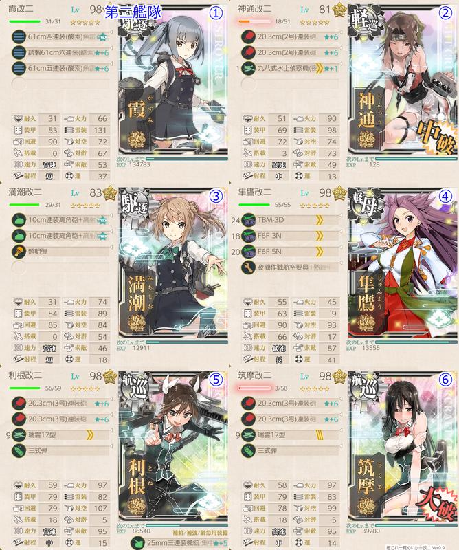 18初秋イベE3甲 護衛独還姫-壊 撃破編成 第二艦隊