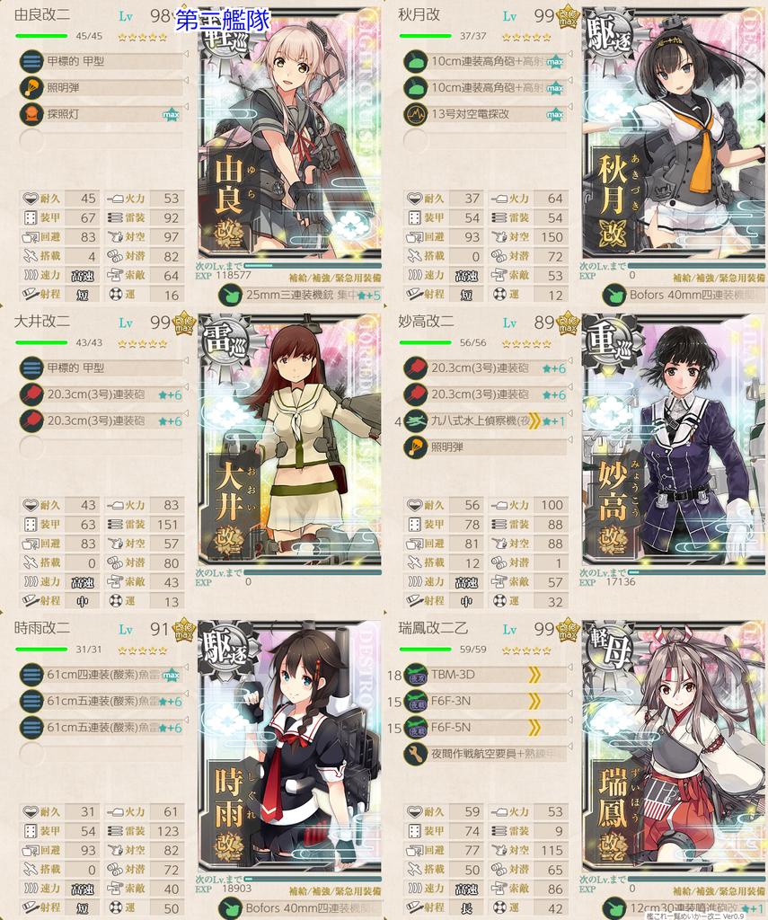初秋イベE5-1甲 第二艦隊編成
