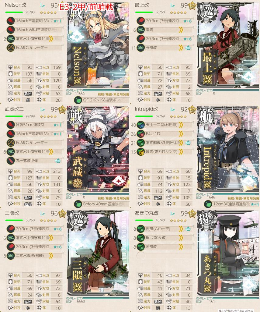 19冬イベE3甲 深海日棲姫 前哨戦 第一艦隊