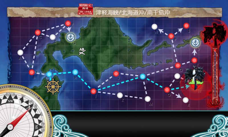 艦これ/19春イベE-1甲/海域マップ/全体