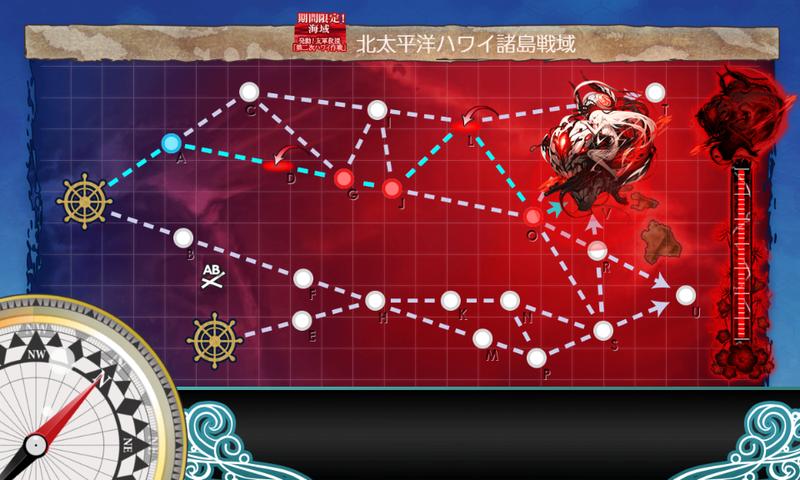 艦これ/19春イベE-4甲/海域マップ/前哨戦