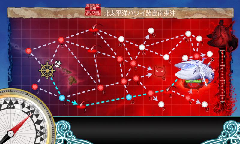 艦これ/19春イベE-5甲/海域マップ/太平洋深海棲姫