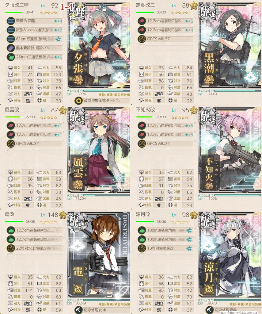 艦これ/節分2020/1-4任務水雷戦隊編成