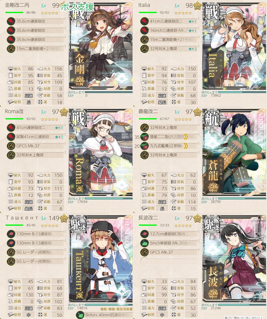 艦これ/節分2020/5-5ゲージ割り決戦支援艦隊