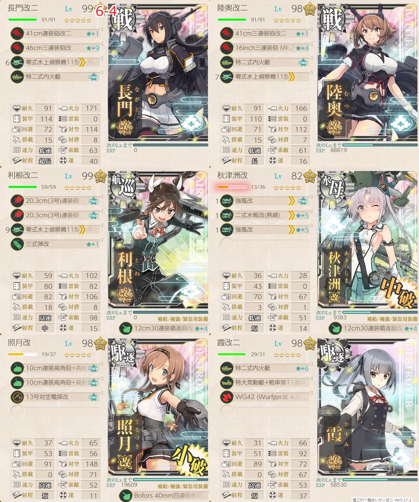艦これ/節分2020/6-4任務艦隊編成