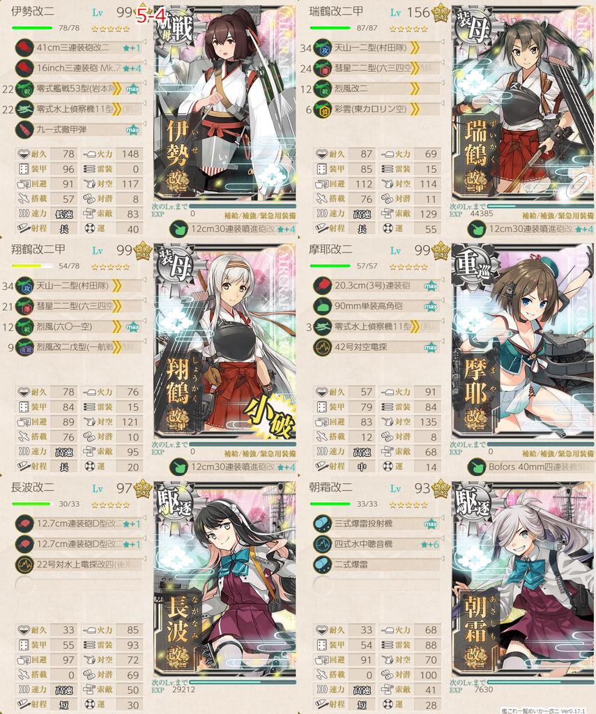 艦これ/節分2020/5-4任務艦隊編成
