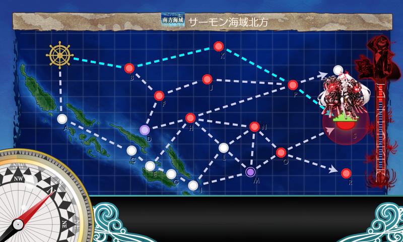 艦これ/節分2020/5-5海域マップ上ルート