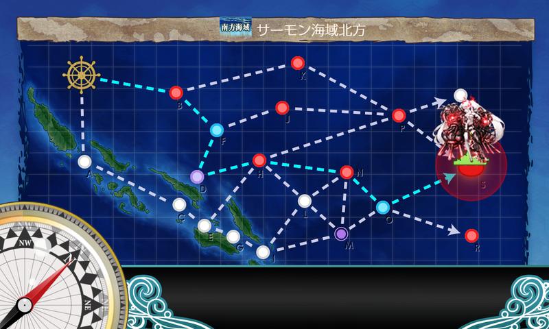 艦これ/節分2020/5-5海域マップ中央下ルート
