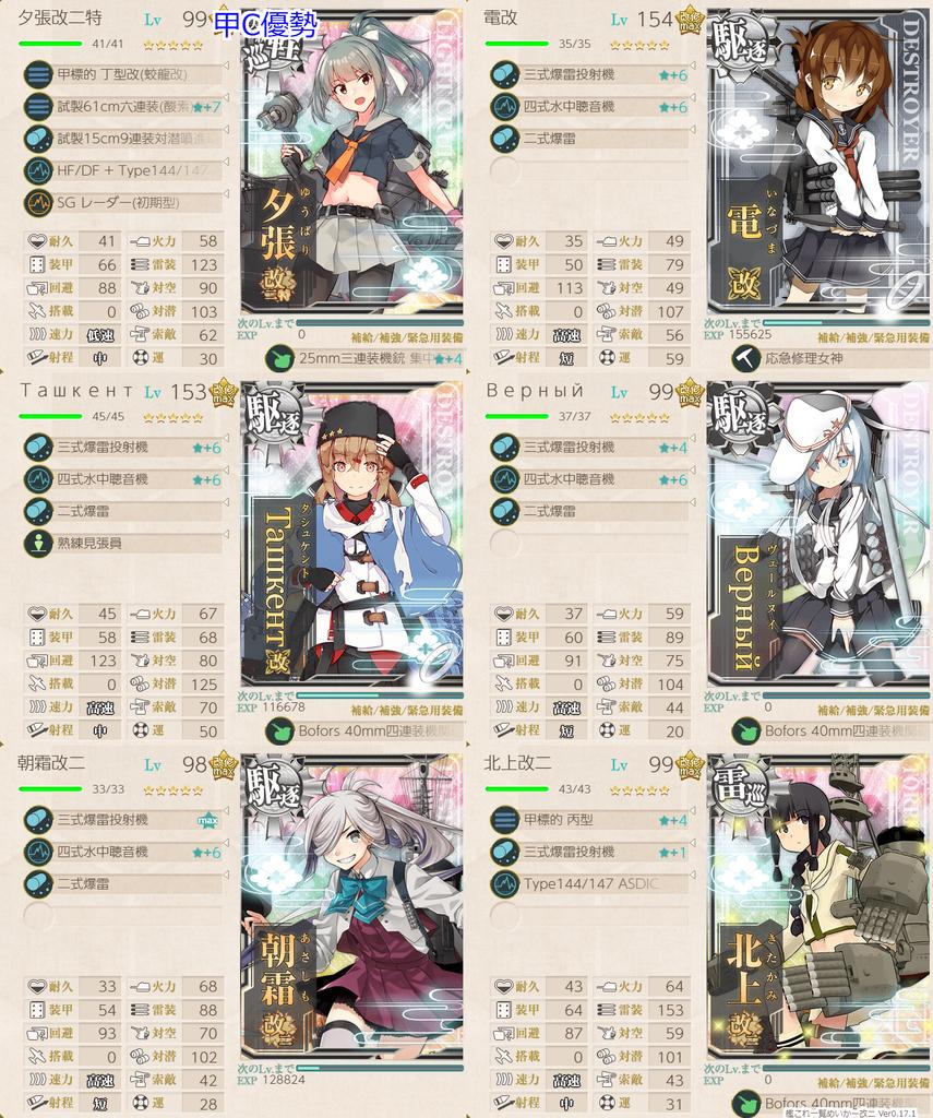 艦これ菱餅イベE1-2甲航路展開/Cマス航空優勢基地優勢第二艦隊