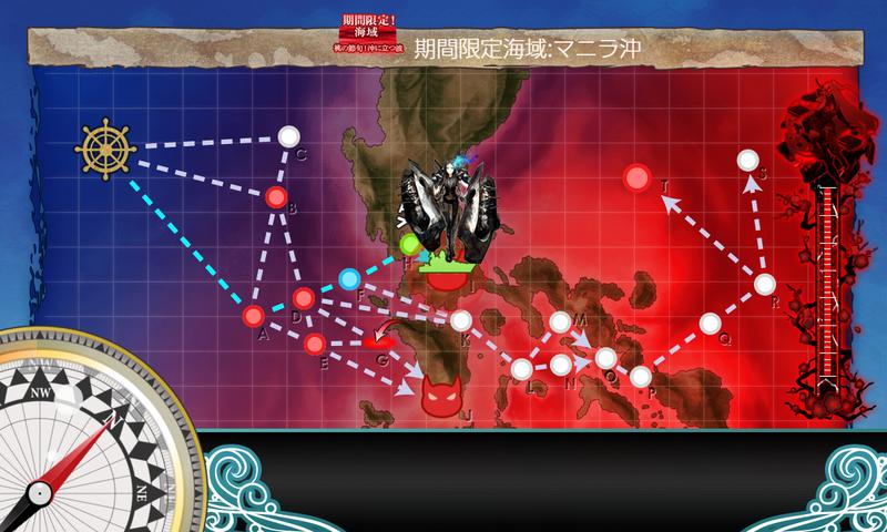 艦これ菱餅イベE1-2甲航路展開/IマスS勝利/海域マップ