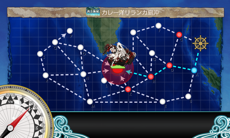 艦これ/4-5/カレー洋リランカ島沖/海域マップ