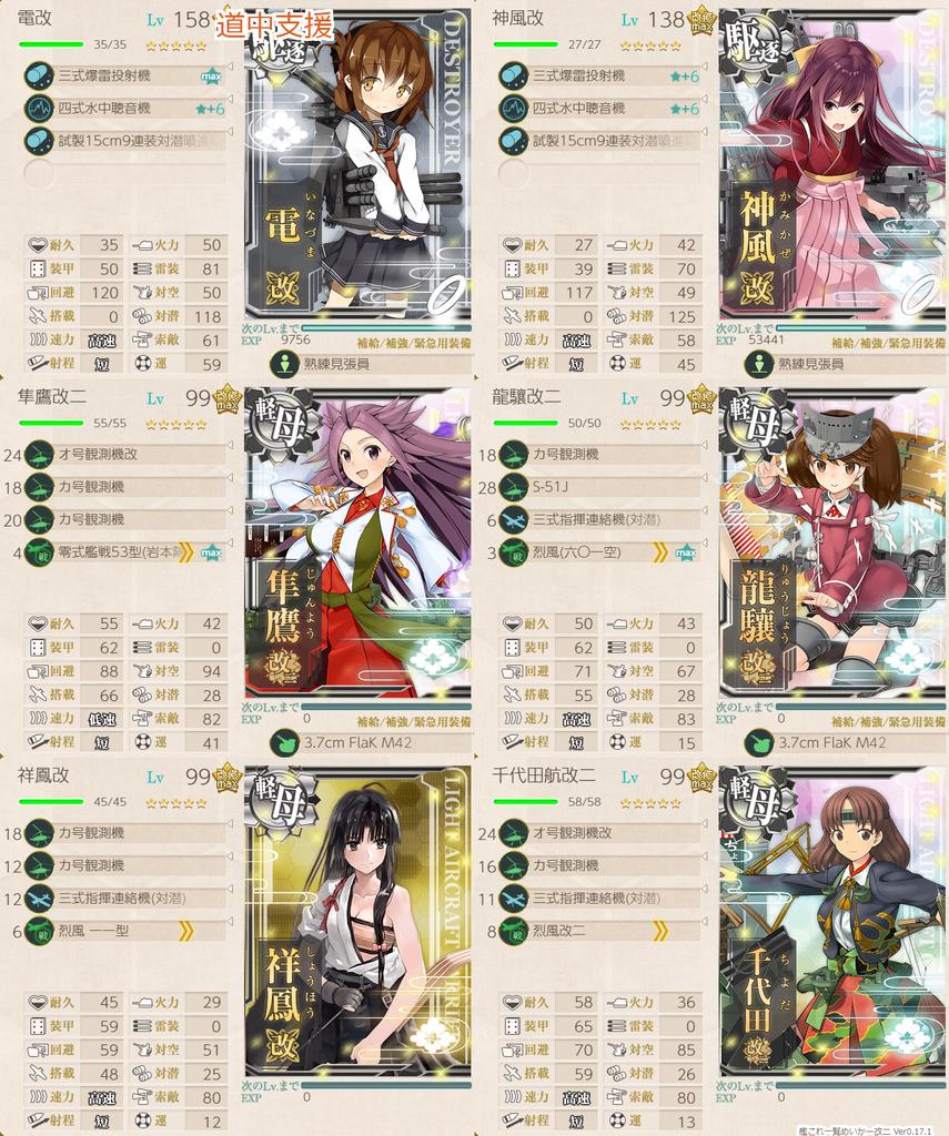 艦隊これくしょん/20梅雨夏イベ/E4-3甲/前哨戦/対潜支援艦隊